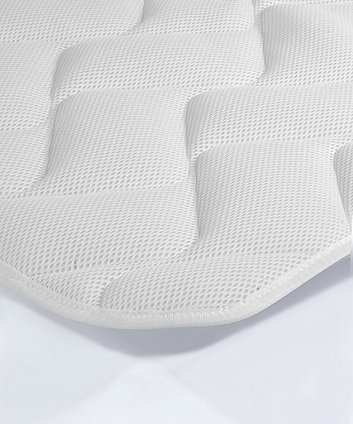 Mothercare 67 x 96cm Travel Cot Mattress with Spacetec? and COOLMAX® freshFX