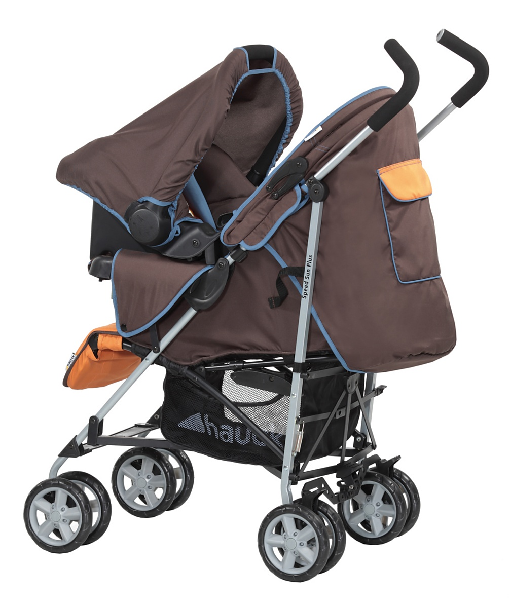 Hauck SpeedSun Plus Shop n Drive Travel System  Happy Orange
