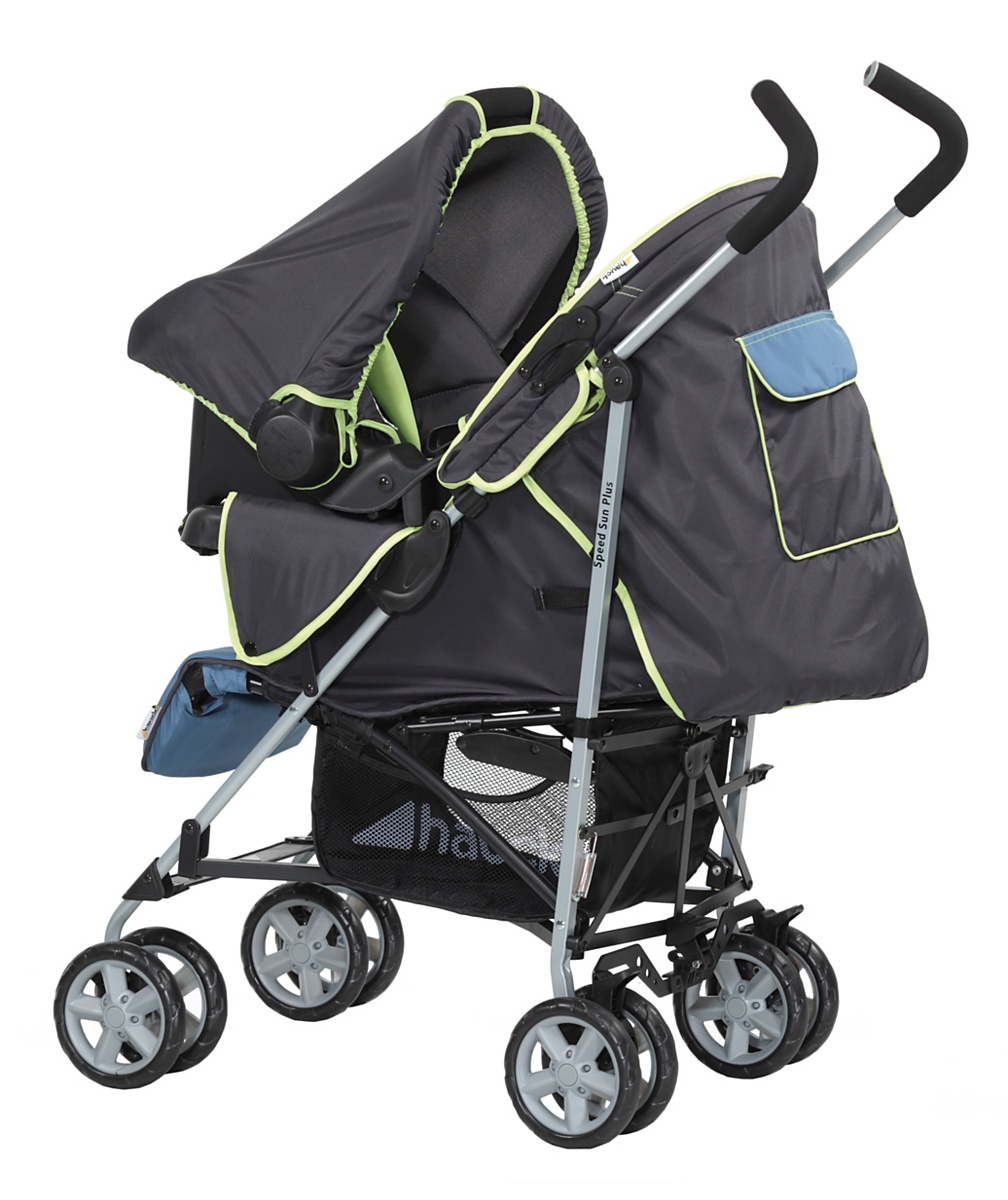 Hauck SpeedSun Plus Shop n Drive Travel System  Happy Blue