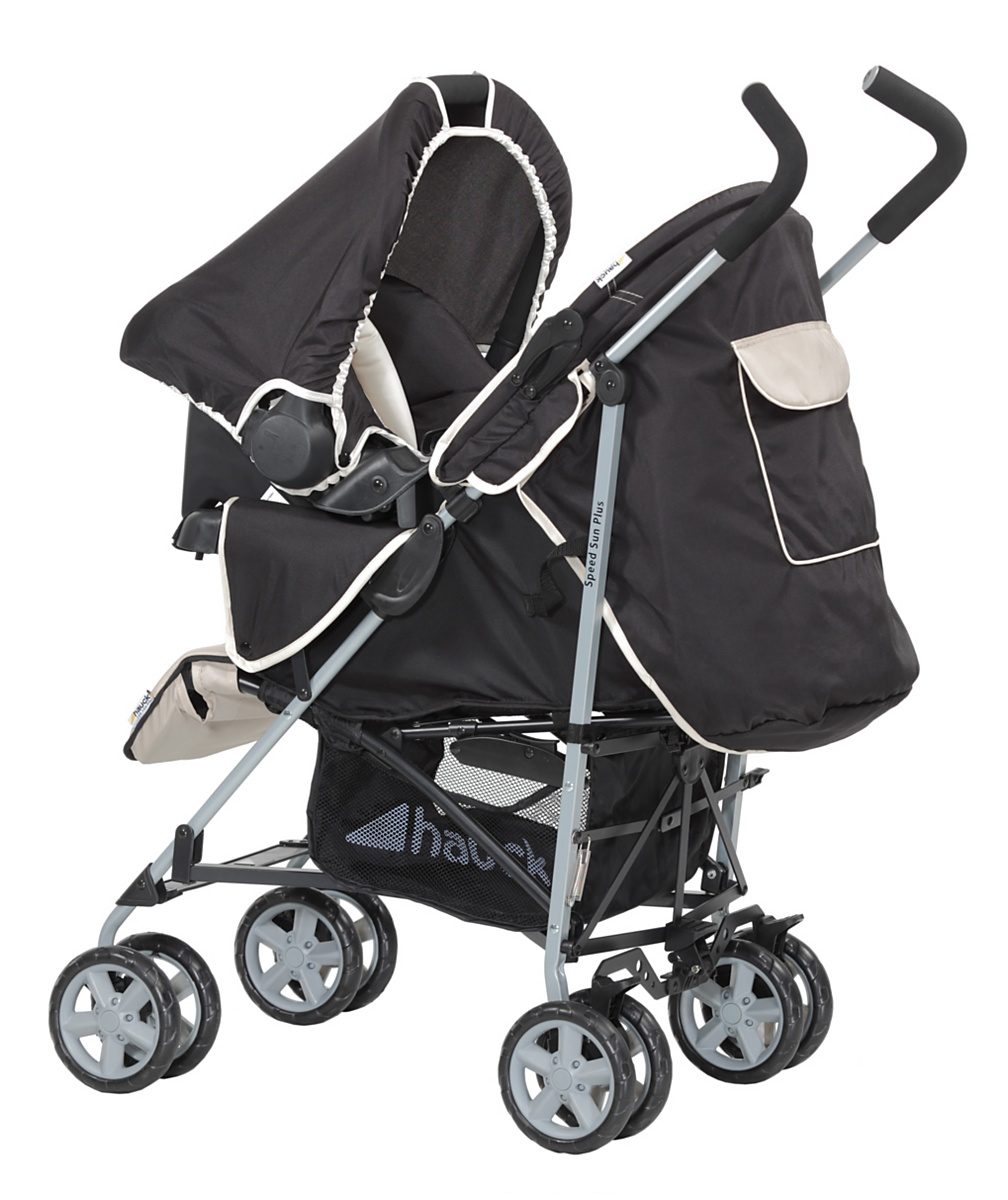 Hauck SpeedSun Plus Shop n Drive Travel System  Happy Beige