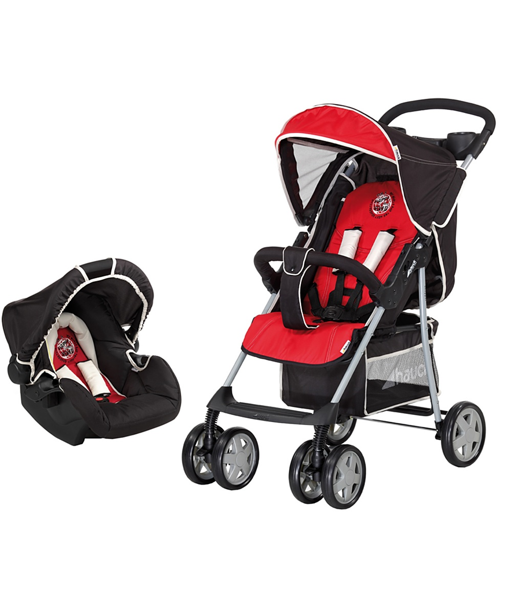 Hauck Shopper 6 Shop n Drive Travel System  Happy Red