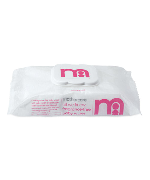 Mothercare All We Know Fragrance-Free Baby Wipes - 72 Wipes
