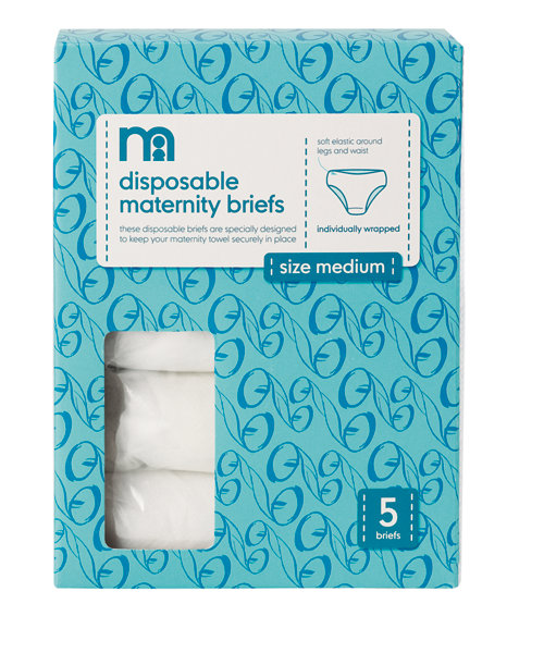 Mothercare Disposable Briefs, Medium - 5 Pack