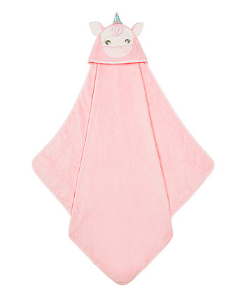Mothercare Unicorn Towel - Pink
