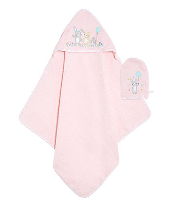 Confetti Party Cuddle N Dry And Mitt Set - Pink