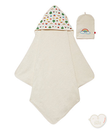 Mothercare Little Bird Cuddle 'N' Dry And Mitt Set