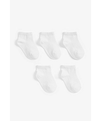 Mothercare White Trainer Socks - 5 Pack