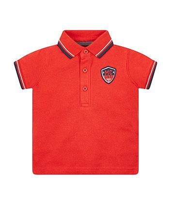 Mothercare Red Pique Polo Shirt