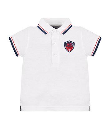 Mothercare White Pique Polo Shirt