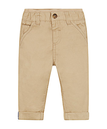 Mothercare Stone Twill Chino Trousers