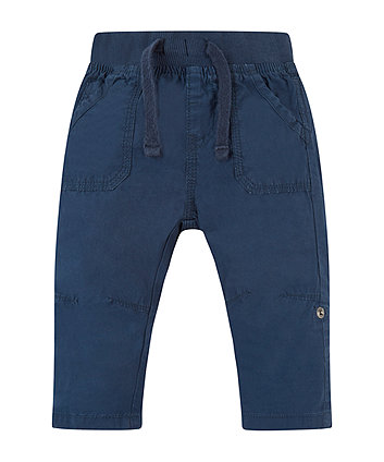 Mothercare Navy Roll Up Trousers
