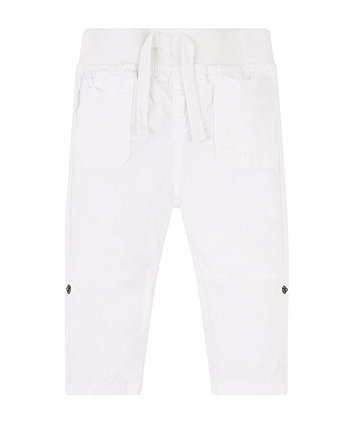 Mothercare White Roll-Up Trousers
