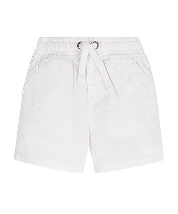 Mothercare White Poplin Shorts