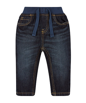 Mothercare Dark Wash Ribwaist Jeans
