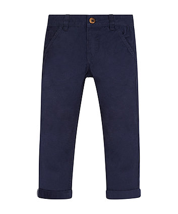 Navy Twill Chino Trousers