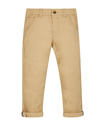 Stone Twill Chino Trousers