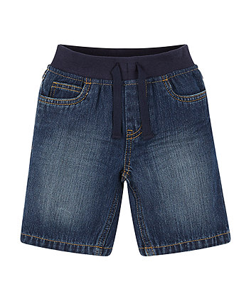 Mothercare Ribwaist Denim Shorts