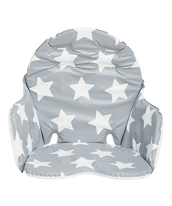 Mothercare Grey Star Highchair Cushion