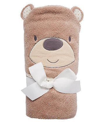 Teddys Toybox Towel - Brown