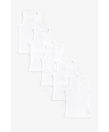 Mothercare White Vests - 5 Pack