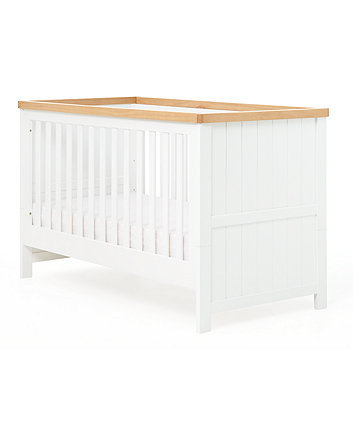 Mothercare Lulworth Cot Bed - White And Oak