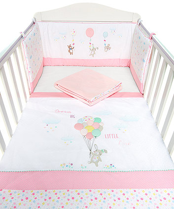 Mothercare Confetti Party Bed In Bag - Pink