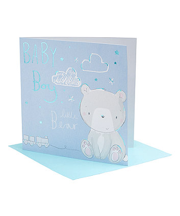 Mothercare My First Baby Boy Bear Card