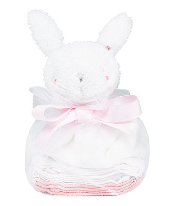 Mothercare My First Pink Comforter And Muslins Gift Set
