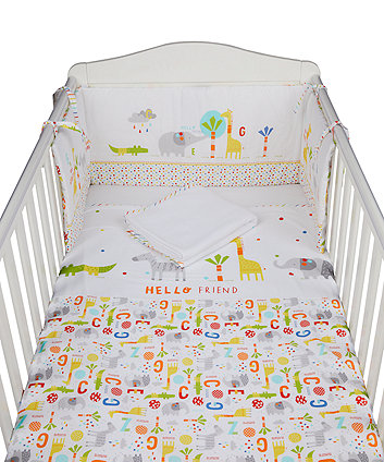 Mothercare Hello Friend Bed In A Bag - 4 Pieces