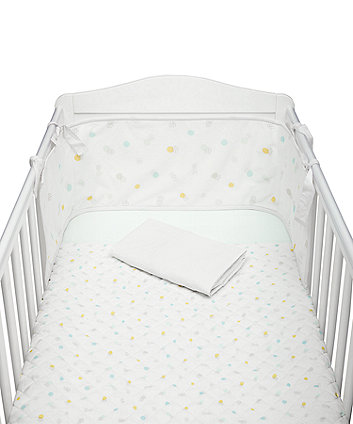 Mothercare Welcome Home Bed In Bag With Mesh Bumper - Mint Spot
