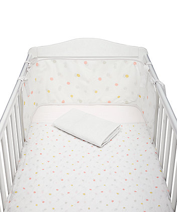 Mothercare Welcome Home Bed In Bag With Mesh Bumper - Pink Spot