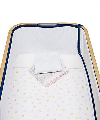 Mothercare Welcome Home Bedside Crib Bedding Starter Set - Pink