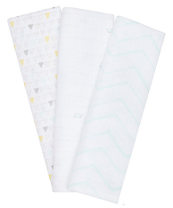 Mothercare Turtle Muslins - 3 Pack