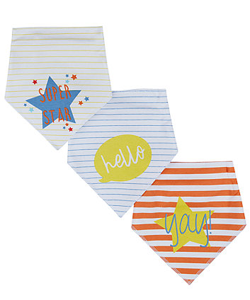 Slogan Dribbler Bibs - 3 Pack