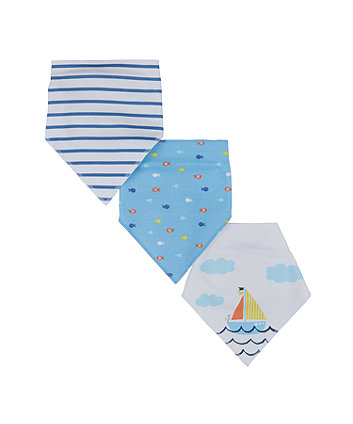 Mothercare Sail Away Dribbler Bibs - 3 Pack
