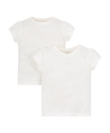 Mothercare White T-Shirts - 2 Pack