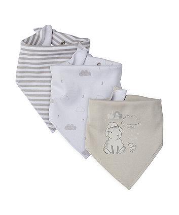 Mothercare Lamb Dribbler Bibs - 3 Pack