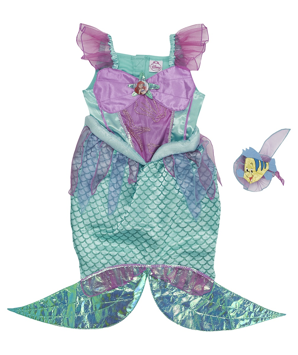 The Little Mermaid Ariel with Flounder hair corsage