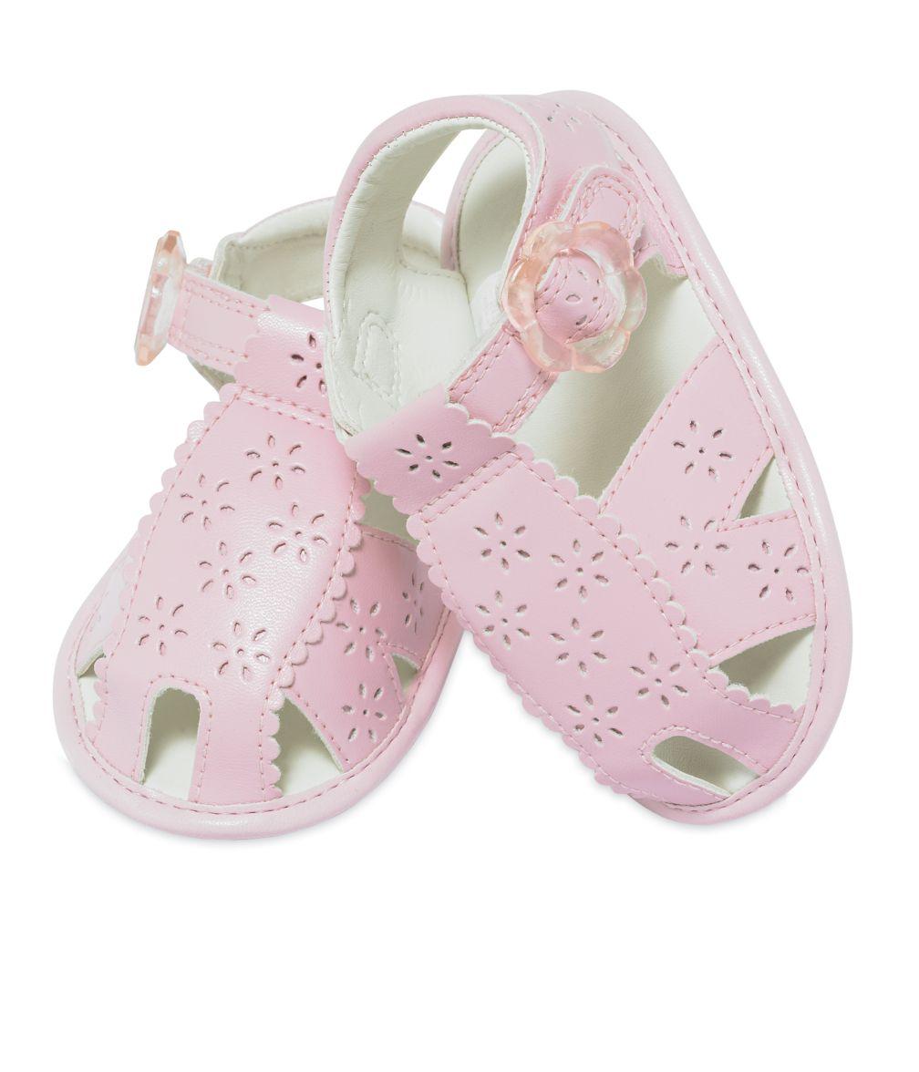 Brogue fisherman sandals pink