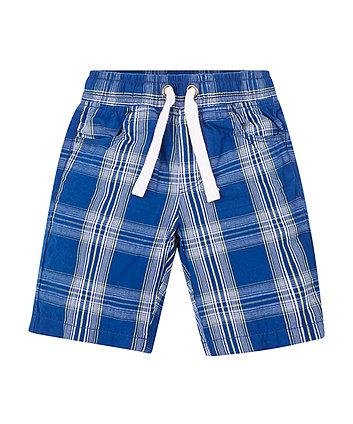 Blue Check Shorts