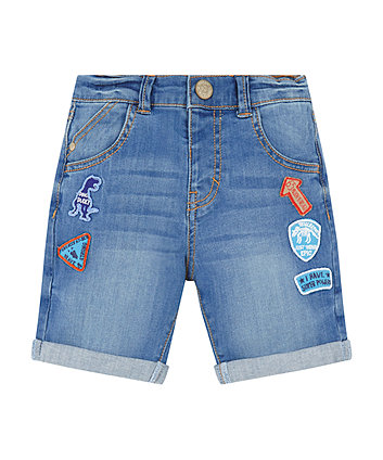 Mothercare Denim Badge Shorts