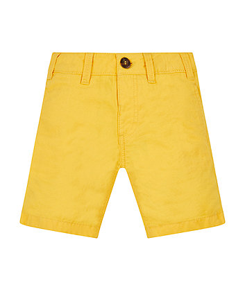 Mothercare Yellow Chino Shorts