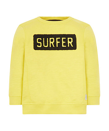 Yellow Surfer Sweat Top