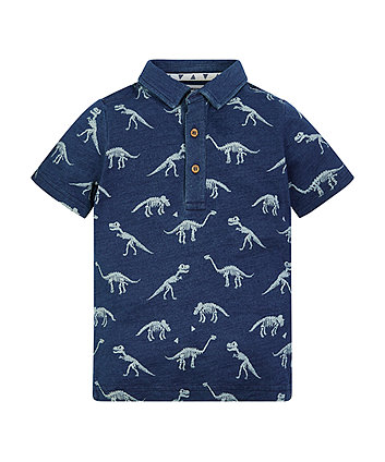 Mothercare Dino Skeleton Polo