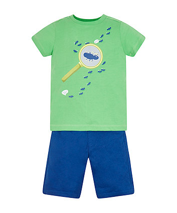 Magnifying Glass T-Shirt And Shorts Set