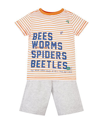Bees, Worms, Spiders T-Shirt And Shorts Set