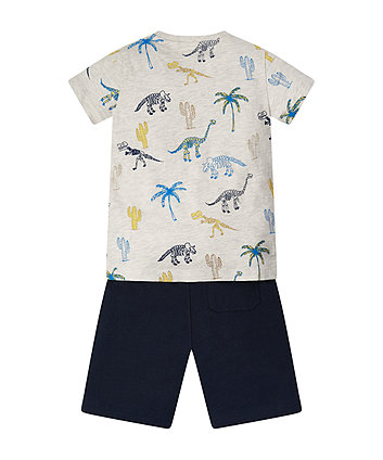 Mothercare Dino Skeleton T-Shirt And Shorts Set