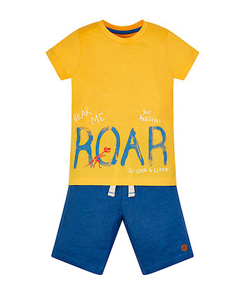 Mothercare Dino Roar Shorts And T-Shirt Set