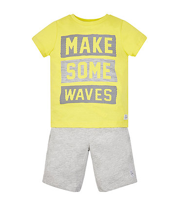Make Some Waves T-Shirt And Shorts Set