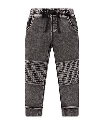 Black Acid Wash Joggers